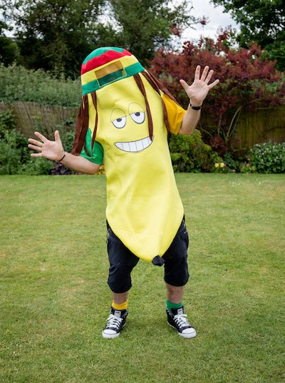 Funforce party rasta banana kids birthday festival Norfolk