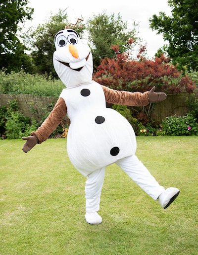 Funforce party Olaf Frozen kids birthday festival Norfolk