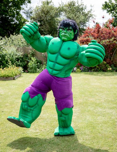 Funforce party Geen Hulk superhero kids birthday festival Norfolk