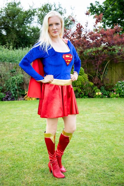 Funforce party Supergirl kids birthday festival Norfolk
